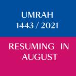 Umrah 2021 Resuming Soon